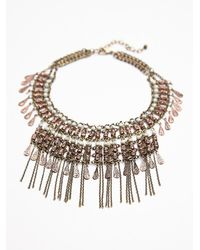 Free People | Metallic Womens Bonfire Fringe Collar | Lyst