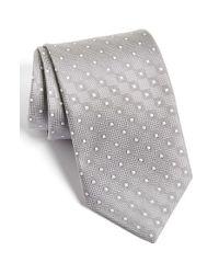 David Donahue | Metallic Geometric Silk Tie for Men | Lyst