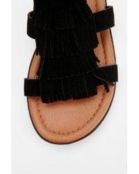 Urban Outfitters - Black Minnetonka Maui Fringe Sandal - Lyst