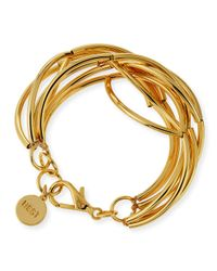 Nest | Metallic Gold-plated Twisted Bracelet | Lyst