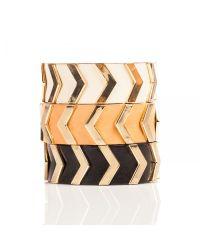 Linea Pelle | Black Chevron Stud Bracelet | Lyst