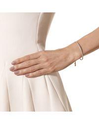 Monica Vinader - Pink Fiji Pave Bar Petite Bracelet - Diamond - Lyst