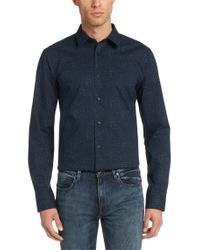HUGO - Blue Slim-fit Casual Shirt In Cotton: 'elisha' for Men - Lyst