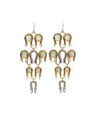 Alexis Bittar - Metallic Aigrette Chandelier Amazonite Earrings - Lyst