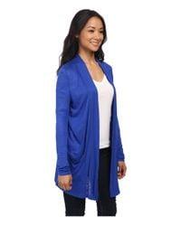 Calvin Klein Jeans - Blue Long Sleeve Cardigan W/ Pockets - Lyst