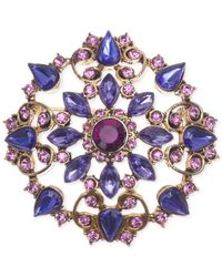 Jones New York | Purple Gold-tone Clusters Pin | Lyst