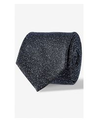 Express | Blue Textured Narrow Wool-silk Tie for Men | Lyst