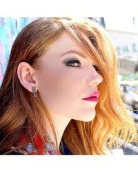 Adornia - Metallic Champagne Diamond Love Hate Stud Earring Set - Lyst