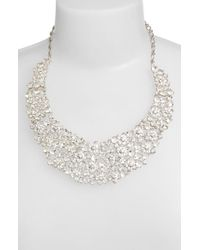 kate spade new york - White 'boathouse' Crystal Bib Necklace - Clear - Lyst