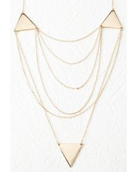 Forever 21 - Metallic Layered Triangle Charm Necklace - Lyst