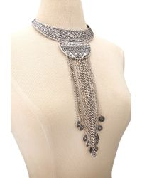 Forever 21 - Metallic -inspired Statement Necklace - Lyst
