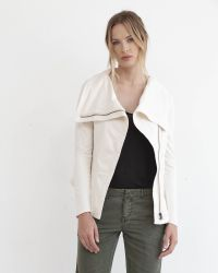 Marrakech | Natural Kacey Stretch-Cotton Moto Jacket | Lyst