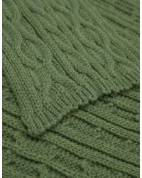 Jules B - Green Cable Knit Scarf for Men - Lyst