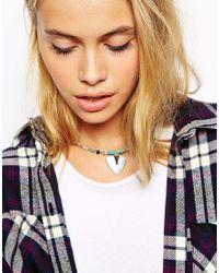 ASOS - Metallic Spear Collar Necklace - Lyst