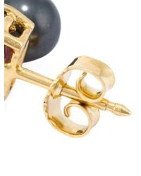 Wouters & Hendrix | Metallic 'playfully Precious' Garnet Earrings | Lyst