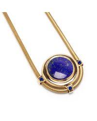 Pamela Love | Blue Dasha Pendant With Stones | Lyst