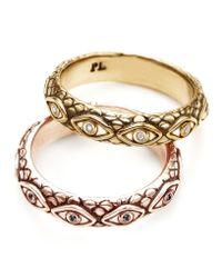 Pamela Love | Pink 18k Gold Ajna Ring | Lyst