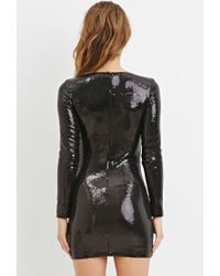 Forever 21 | Black Sequined Bodycon Dress | Lyst