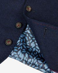 Ted Baker | Blue Wool Waistcoat for Men | Lyst