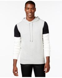 Sean John - Gray Men's Colorblocked Hoodie Sweater for Men - Lyst