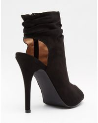 Call It Spring - Talewen Black Peep Toe Heeled Shoe Boots - Lyst