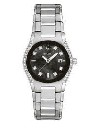 Bulova - Metallic Ladies' Stainless Steel Diamond Watch - Lyst