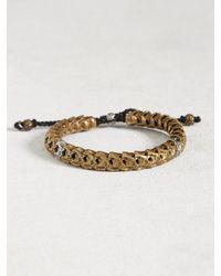 John Varvatos - Multicolor Brass Snake Bone Vertebrae Bracelet for Men - Lyst
