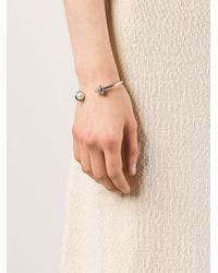 Eddie Borgo | Metallic Inlaid Pearl & Cone Hinged Bangle | Lyst