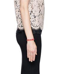 Valentino | Pink 'rockstud' Skinny Leather Bracelet | Lyst