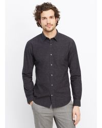 Vince - Black Flecked Button Up for Men - Lyst