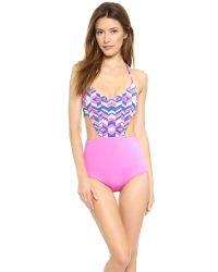Zinke - Multicolor Andi One Piece Swimsuit - Cobalt Chevron Print - Lyst