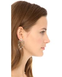 DANNIJO - Metallic Coley Earrings - Silver/crystal - Lyst