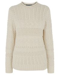 Warehouse - Natural Craft Jumper - Lyst