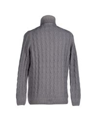 Altea - Gray Turtleneck for Men - Lyst