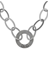 Dolce & Gabbana | Metallic Women's Silver Tone Oval Shape Link Necklace | Lyst