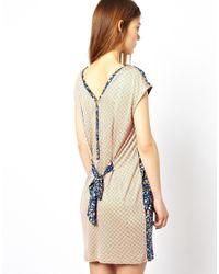 Traffic People | Blue Splendour in The Grass Split Print Dress | Lyst