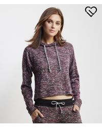 Live Love Dream | Purple Lld Heathered Cropped Hoodie | Lyst