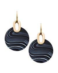 Michael Kors | Black City Disc Earrings | Lyst