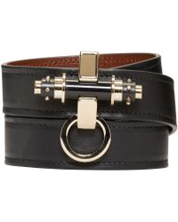 Givenchy | Black Leather Obsedia Bracelet | Lyst