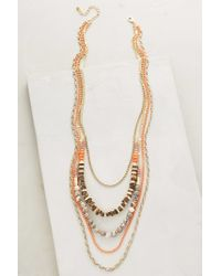 Anthropologie - Pink Sea Depths Layered Necklace - Lyst