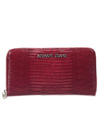 Armani Jeans | Red Wallet | Lyst
