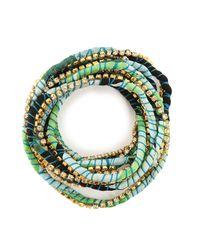 Alyssa Norton - Green Silk Rhinestone Wrap - Lyst