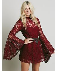Free People | Pink Geo Garden Satin Tunic | Lyst