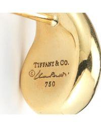 Tiffany & Co. - Metallic Pre-Owned: Elsa Peretti 18K Gold Tear Drop Earrings - Lyst