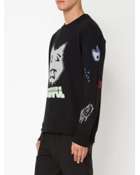 Lanvin | Black Embroidered Sweatshirt for Men | Lyst