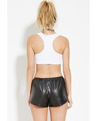 Forever 21 | White Married To The Mob Feminist Crop Top | Lyst