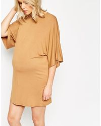 ASOS - Brown T-shirt Dress With Kimono Sleeve - Lyst