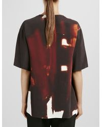 JOSEPH - Brown Abstract Matt Silk Nolan Blouse - Lyst