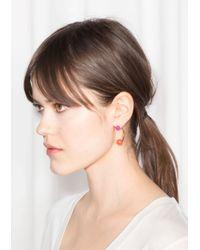& Other Stories - Orange Ball Hook Earrings - Lyst