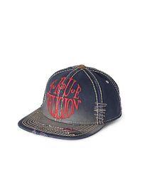True Religion | Blue True Circle Visor Cap for Men | Lyst